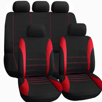 TIROL T21620 Universal Car Seat Cover 9Pieces/Set Black/Red/Blue/Gray Front Rear Seat Covers For Crossovers Sedans Free Shipping