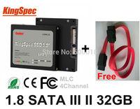 "Brand Kingspec 1.8""  Inch SATA III SATA II SSD 32GB 4-Channel HDD Solid State Disk Drive Laptops Desktops Internal Hard Drives"