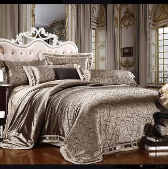 Free Shipping 4 pcs of satin silk textile cotton quilt cotton marriage celebration bedding denim bedding deals