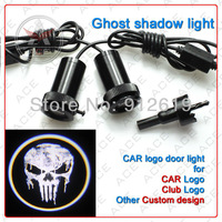 5W door light projector ghost shadow light/ LED car welcome lights/ laser lamp  for SKULL PUNISHER