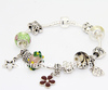 EB 2013 New arrival bracelet for women silver plated muti  beads charm Bracelet Chain&Link bracelets/Free Shipping By CPAM