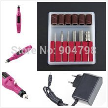 1 PCS Pen Shape Electric Pedicure Nail Drill Set File Bit Acrylic Manicure Pedicure Worldwide FreeShipping(China (Mainland))