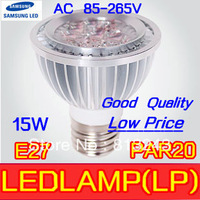 15w 5X3W Led bulb led lamp LED Light PAR 20 Spotlight E27,4pcs/lot sliver 110V 220V Cool White Warm White PAR20 Low price
