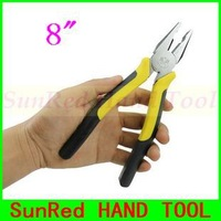 """BESTIR taiwan brand 8"""" Linesman Pliers Cr-V alloy steel stiffened tongs mouth ANSI and DIN certificate,NO.10303 freeshipping"""