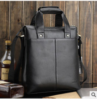 Hot !!! Free shippingn New fashion 2014  Genuine leather men shoulder bag,Handbag ,business fit & Ipad fit