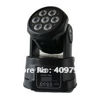 Free Shipping 4 in1 RGBW 7pcsX12W Led Moving Head Light Disco DJ Party Night Club Pub Bar KTV 7*12W LED moving head Wash light