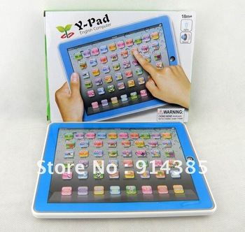 Free shipping, blue Y-Pad English Computer Learning Machine, y pad  touch table computer, Kid learning machine, educational toys