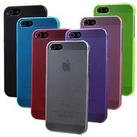Ultra Thin TPU+PC Phone Cover Cases for iPhone 5 5S,Slim Matte Frosting Transparent Case For iPhone 5,6 color,10pcs FreeShipping