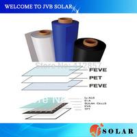 Promotion 10M Solar PV TPT backsheet with Tedlar+PET+Tedlar for encapsulation of photovoltaic cell panel kit