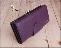 lady brand wallet 2014 genuine leather bags long designer women wallets card holder purse fashion clutch bag free shipping