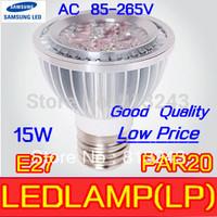 hot sell 10pcs/lot Par20 Led Lamp E27/GU10/E14/MR16/B22 Spotlight Par 20 4X3W 12W 5*3W 15W Dimmable Led Lighting warm/cool/white