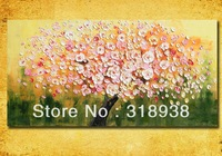 Hand-painted Palette knife purple flower Oil Painting on Canvas/High Quality modern painting thick texture/FREE SHIPPING/AF470