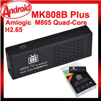 MK808B Plus MK808 google Smart TV Android 4.4.2 Mini PC WIFI HDMI Media Player tv box Quad Core Cortex A5 1.5GHz 1GB 8GB Dongle