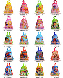 Free Shipping! mixed Designs Non-woven Material/Cartoon Drawstring Backpack Bag&lt;cartoon kids bag 10 pcs/lot(China (Mainland))