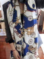 Free Shipping !2014 NEW Style, Carriage and Chain Scarf  Long Chiffon Scarf  Women's Korean Version Silk Scarf,S-014