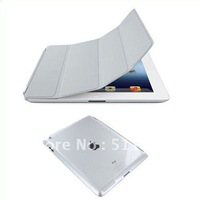 Freeshipping 1 Pair/lot Slim Magnetic Front Smart Cover+Crystal Back Case for iPad 2 iPad 3 Multiple Color