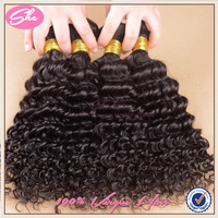 SHE Hair Free Shipping Malaysian Curly Hair 5A Top Quality 100% Virgin Human Hair 4PCS/LOT Nature Colour 10inches ~30 inches
