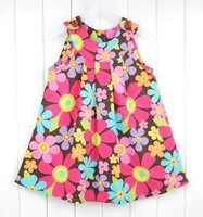 2013 Retail Free Shipping Baby Girl Summer Floral Dress with lace/Toddler Clothing/ Outfit saitable for 1-5years old