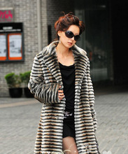 Warm mink fur jacket trench mink fur coat women's garment costly coats for woman one long jackets for women,free shipping TBW035(China (Mainland))