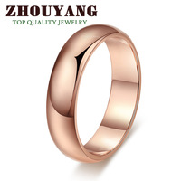 Top Quality Simple Style 18K Rose Gold Plated Ring Jewelry   Crystals From Austria Full Sizes Wholesale ZYR049 ZYR050
