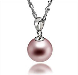 Free Shipping 925 Sterling Silver Plate Pearl Necklaces .Fashion Pearl Jewelry.925 Sliver Necklaces Wholesale Price(China (Mainland))