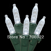 Free Shipping 30 PCS UL 70L 7M White Christmas M5 LED Icicle Lights