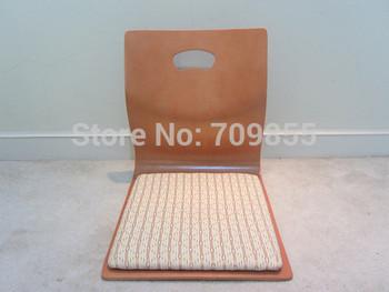 Fan-shape Japanese Stlye Tatami  Chair, Floor chair,zaisu chair in natural finish