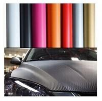 Hot Sale 3D Carbon Fiber 152*300CM ,Carbon Fiber Car Decoration Sticker,Many Color Option Free shipping