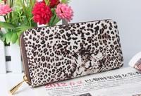 New Fashion Leopard Sexy Women Wallet Card Holder Lady's Money Case Girls Handbag Purse Whole Sale