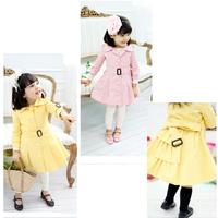 New Fashion Kids Children's Girl Princess long coat kids dress coat girl jacket  Size100-140 Free Shipping