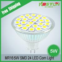 4pcs/lot DC12V MR16  Corn Bulb 5W Energy Saving Corn Ceiling Light Free shipping