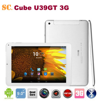 9 inch Cube Talk 9/U39GTS/U39GT 3G MTK8389T Quad Core Tablet PC PLS Screen1920x1280px Dual Camera Android 4.2 1G 16G BT GPS 3G