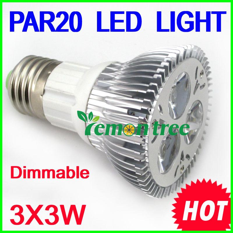 Freeshipping High Quality LED Light PAR 20 9W Spotlight E27 socket 110V 220V Cool White Warm White PAR20(China (Mainland))