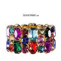 Freeshopping 2013 Vintage jewelry fashion color shiny Rhinestone crystal bangles and bracelets dropshipping  B0396