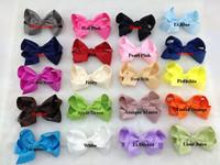 100pcs/lot 4.5 inches,Hot Sale ,korean style,flower heads ,hair bows, ribbon bows,hair accessories