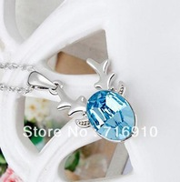 NC12028 2013 New AustrianCrystal Necklace Fashion Elegant Vintage Pendants Luxury 18K gold plated jewelry Gift Cute Reindeer