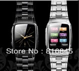 The cheapest latest stainless steel watch phone 3G GPRS Bluetooth mp3 mp4 e-book reader support for multiple languages