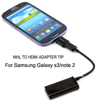 MHL HDMI Adapter Tip For SAMSUNG GALAXY S3 i9300 Note 2,Micro USB 5 Pin to 11 Pin adapter.