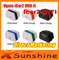 2014 Lowest Price Vgate iCar2 WIFI OBD2 OBDII Auto Diagnostic Scanner Tool New Level ELM327 Support Support Both IOS and Android