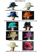 Large brim Bridal dress Sinamay hat for wedding races church Kentucky derby,FREE SHIPPING BY EMS