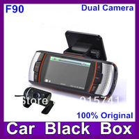 2013 Newest  F90G H.264 Dual Lens Car DVR  G-Sensor Full HD720P 20FPS 2.7' LCD/HDMI/External IR Rear Camera Free Shipping