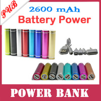 100pcs/lot 2013 Brand New Good quality universal portable mobile power bank 2600mah Free Shipping