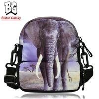 Casual Small 3D Animal Printing Shoulder Sport Belt Waist Packs Multifunctional Waist Bag BBP107W