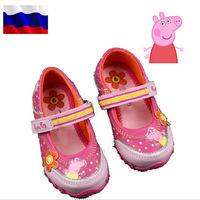 2014 New Autumn Peppa Pig Children Shoes For Kids Girl Brand Designer Children's Little Shoe Sneaker Princess Girls Sneakers