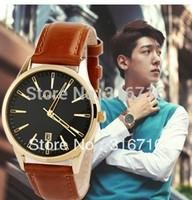 Watch Men Top Brand JULIUS Luxury Casual Fashion Wristwatches Calendar Quartz Men Sports Clock Leather Strap Watches JA-372