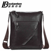 Bostanten brand fashion casual Guarantee cowhide Genuine leather men messenger bag for iPad free shipping