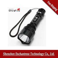 Led flashlight! UltraFire C8 CREE XM-Q5LED 5-mode 1200Lumens Waterproof Flashlight( for 18650 battery), Free Shipping