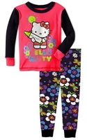 Excellent Quality Girl's Cartoon PRINCESS Long-sleeved Pajamas Sets HELLO KITTY Sleepwear Nightwear, 6 Sizes/lot - GPA183/GPA184
