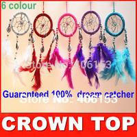HOT!!! Guaranteed 100% beautiful dream catcher witn  Small shells 6piece/lot ,6 colours mixed , 6pcs in opp bag  Free shipping