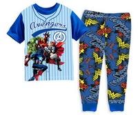 Girls' Long Sleeve Cartoon Pyjamas Children Autumn Cute Design Nightwear Set, 6 Sizes (2T-7T)/lot - GPA313/GPA318/GPA322/GPA323